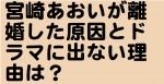 宮崎あおいが離婚した原因とドラマに出ない理由は?